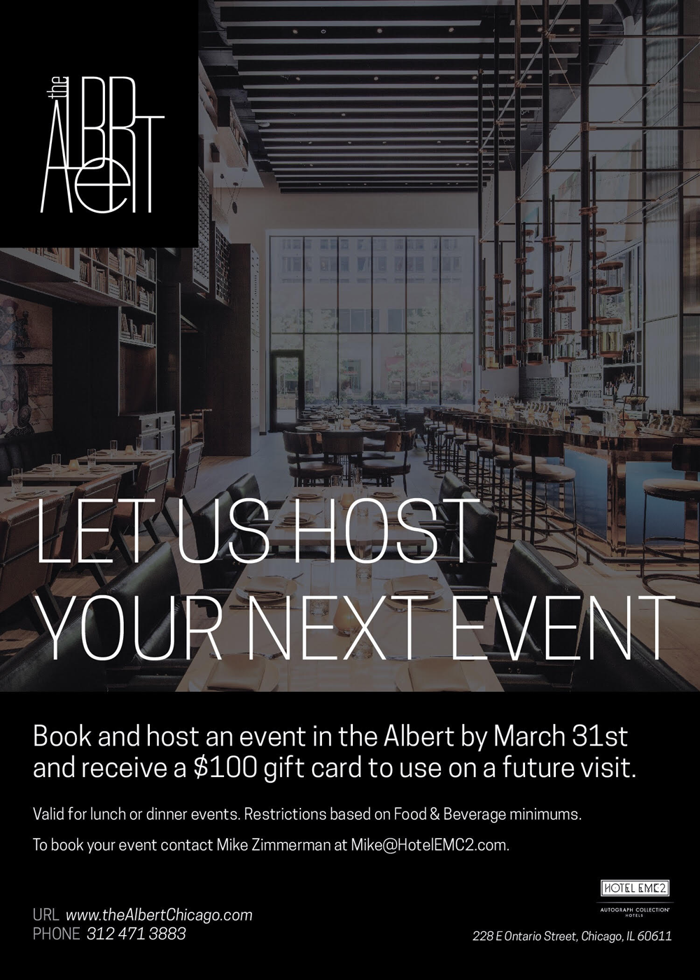Private Events in Downtown Chicago | the Albert