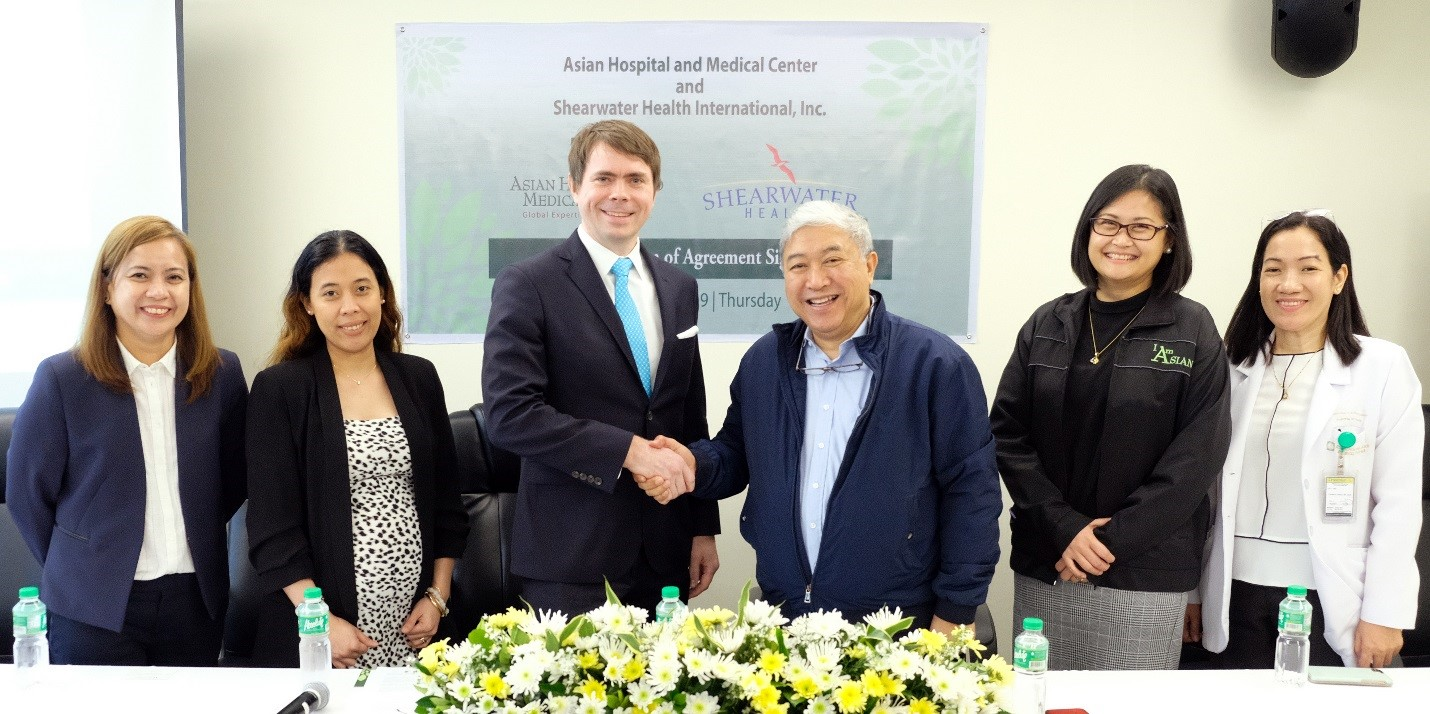 U.S.-based Shearwater Health and Philippines-based Asian Hospital and Medical Center Create Transpacific Partnership to Solve Global Nursing Shortage