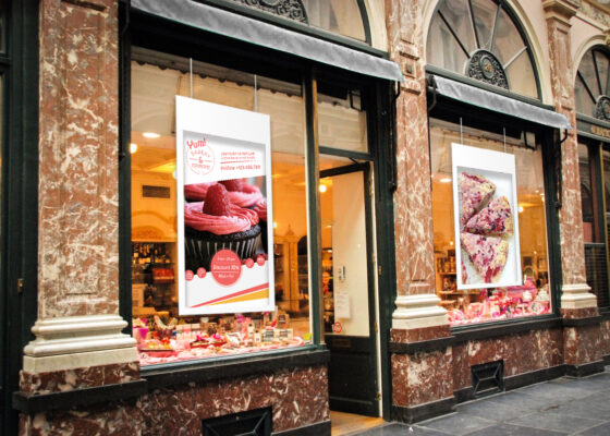 Digital Window Posters, digital, bakery, advertising, visual solution, window poster