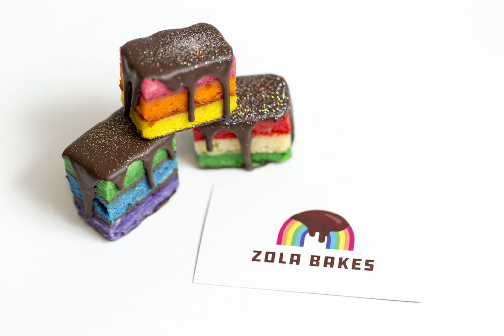 rainbow cookies by zola bakes