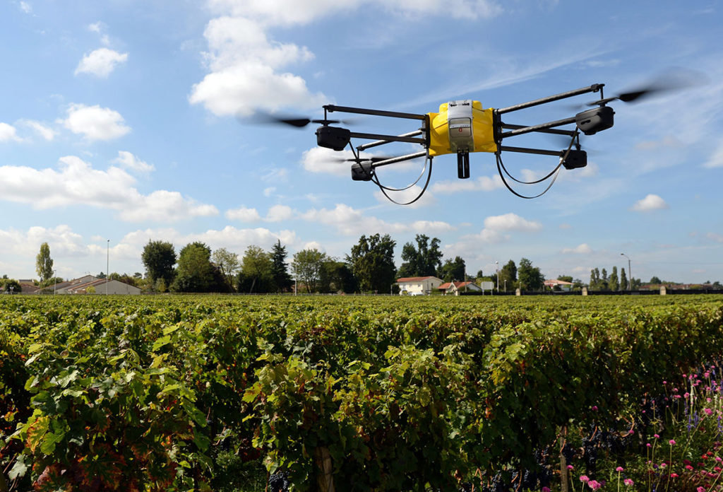 drone inspections at agricultural site