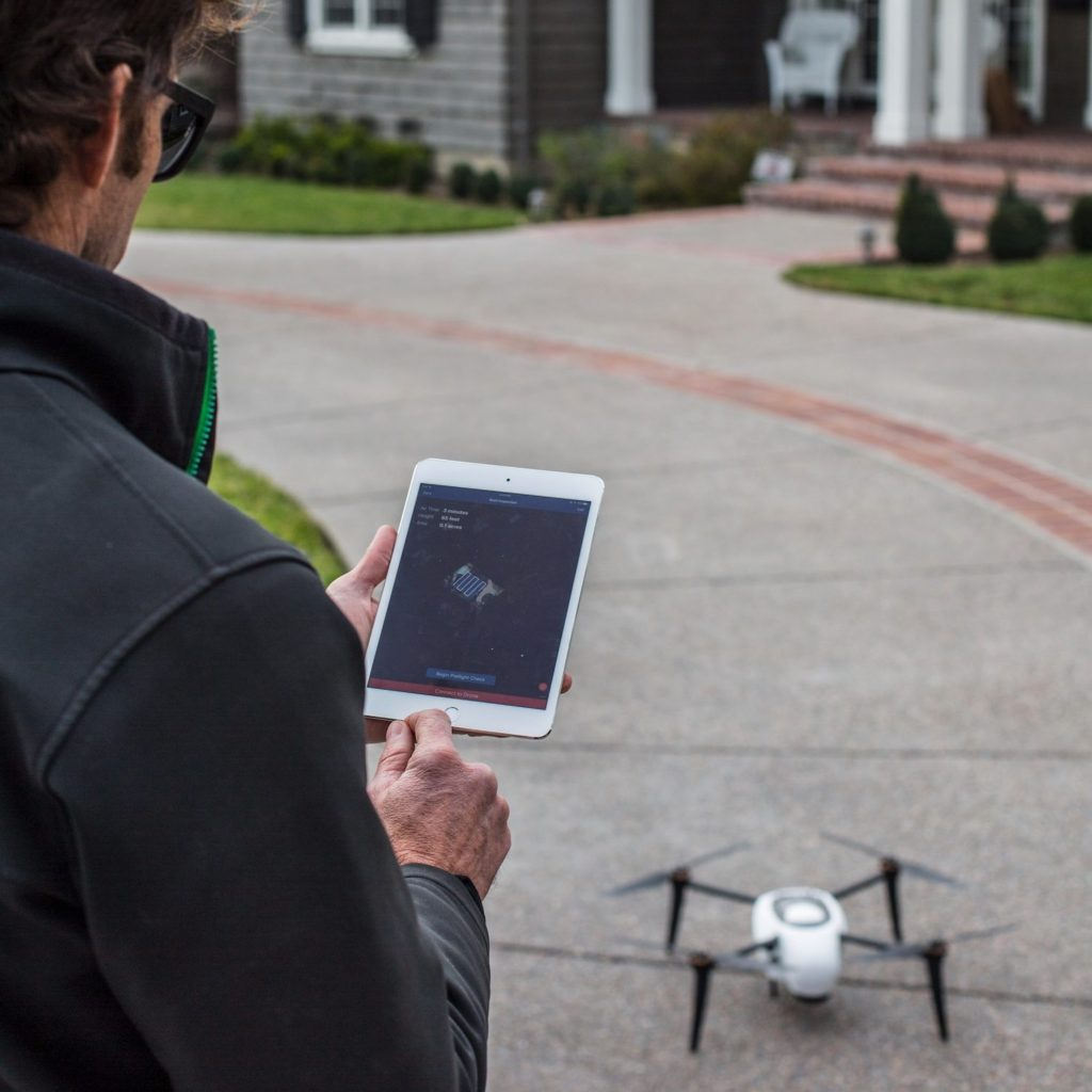 drone inspections at insurance site