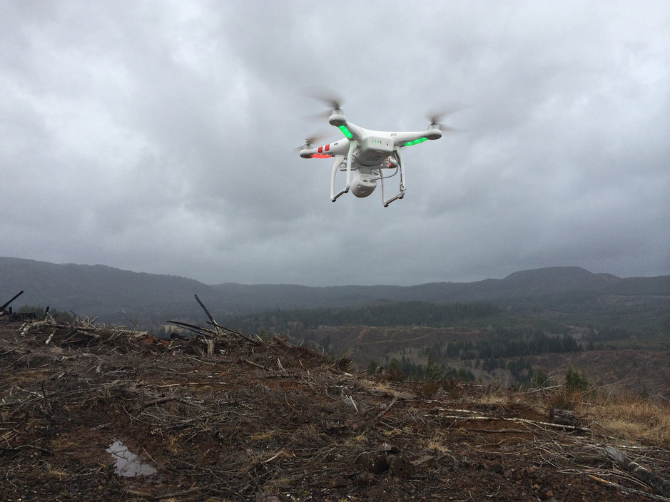 drone inspections at disaster site