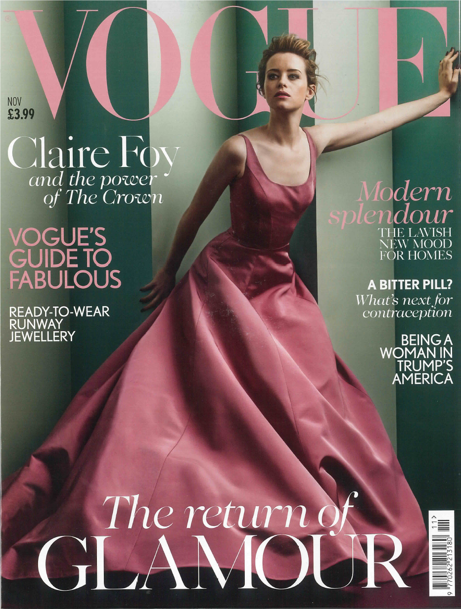 Vogue November 2017 Katherine Mahony Cover