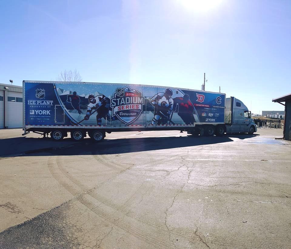 Vehicle Wrap hockey semi truck