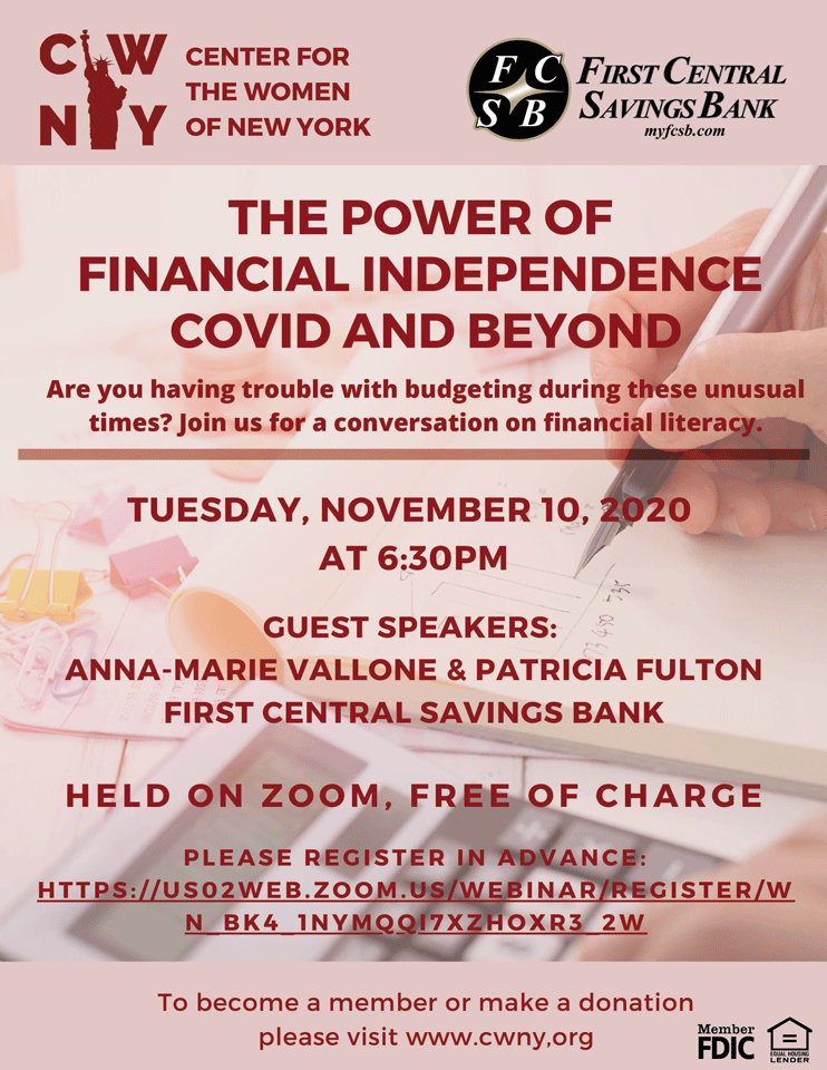 The Power of Financial Independence Webinar Flyer