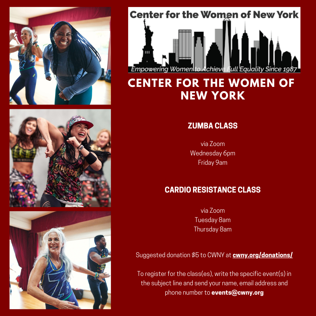 Zumba and Cardio Resistance Class flyer