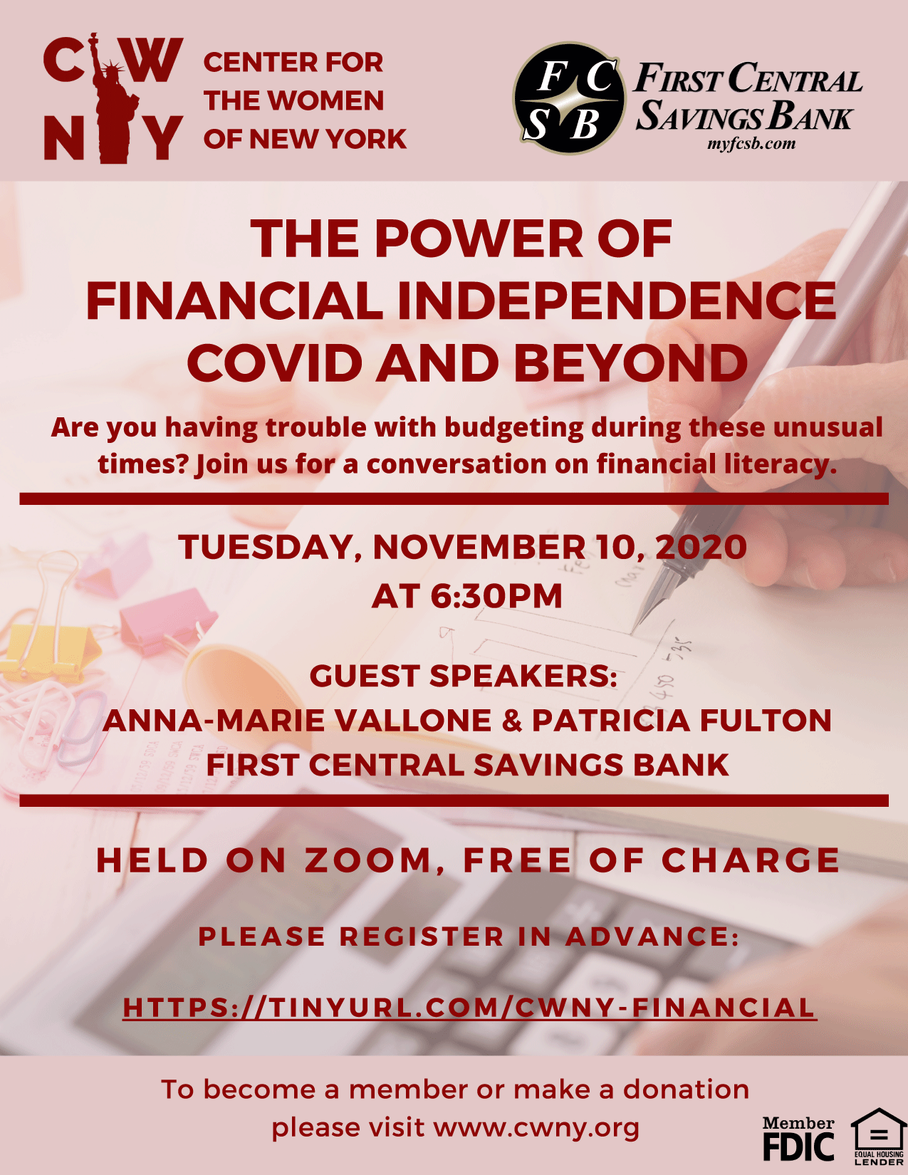 The Power of Financial Independence, COVID and Beyond Webinar @ Zoom Webinar
