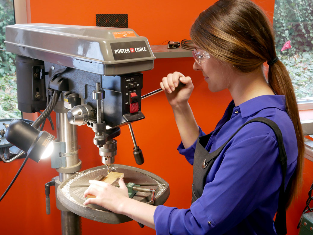Engenious Design Jobs: Mechanical Engineer Using A Drill Press