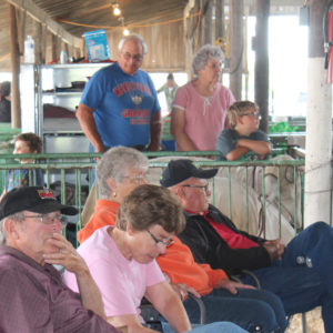 Spectators at Ford County Fair in Melvin, Illinois