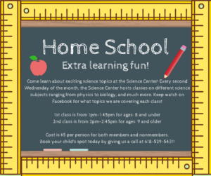 March Home School Classroom: Lab Safety @ The Science Center