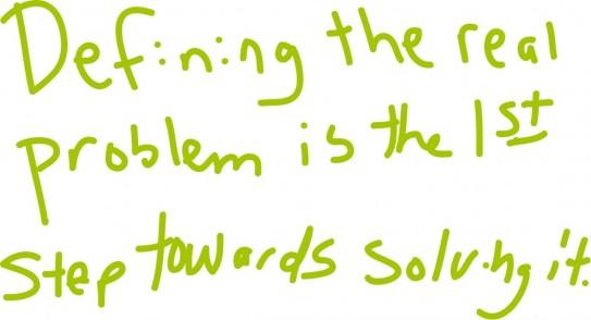 Doodling Leadership Tip - Addressing the Real Problem