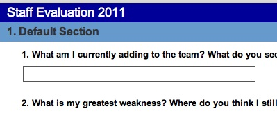 Leadership Evaluation Summary & Observations 2011