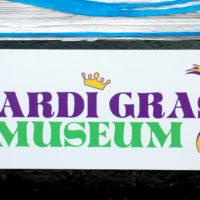 mardi gras museum sign 7636