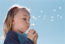 blowing bubbles