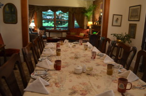 The Dining Area of West End Guest house