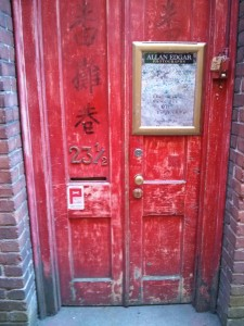 Original door in Chinatown, Victoria