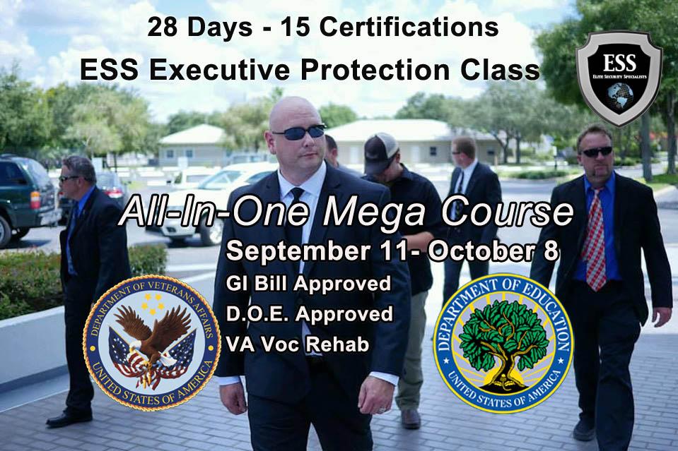 GI Bill Approved Bodyguard Schools - 28 Day Bodyguard Training