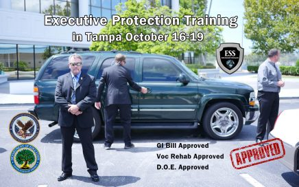 Executive Protection Training in Tampa October 16-19 at ESS Global Corp