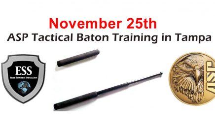 ASP Tactical Baton Training in Tampa November