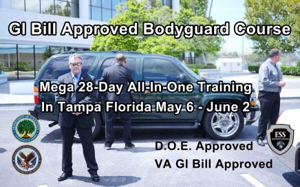 GI Bill Approved Bodyguard Training MAY 2019