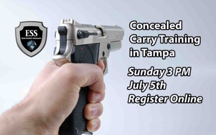 Tampa Concealed Carry Training SUndayy JULY