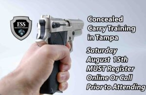 Tampa Concealed Carry Training SUndayy August 15 REISTER