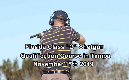 "Florida Class ""G"" Shotgun Training in Tampa"