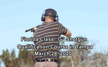 Florida Class G Shotgun Training in Tampa MARCH
