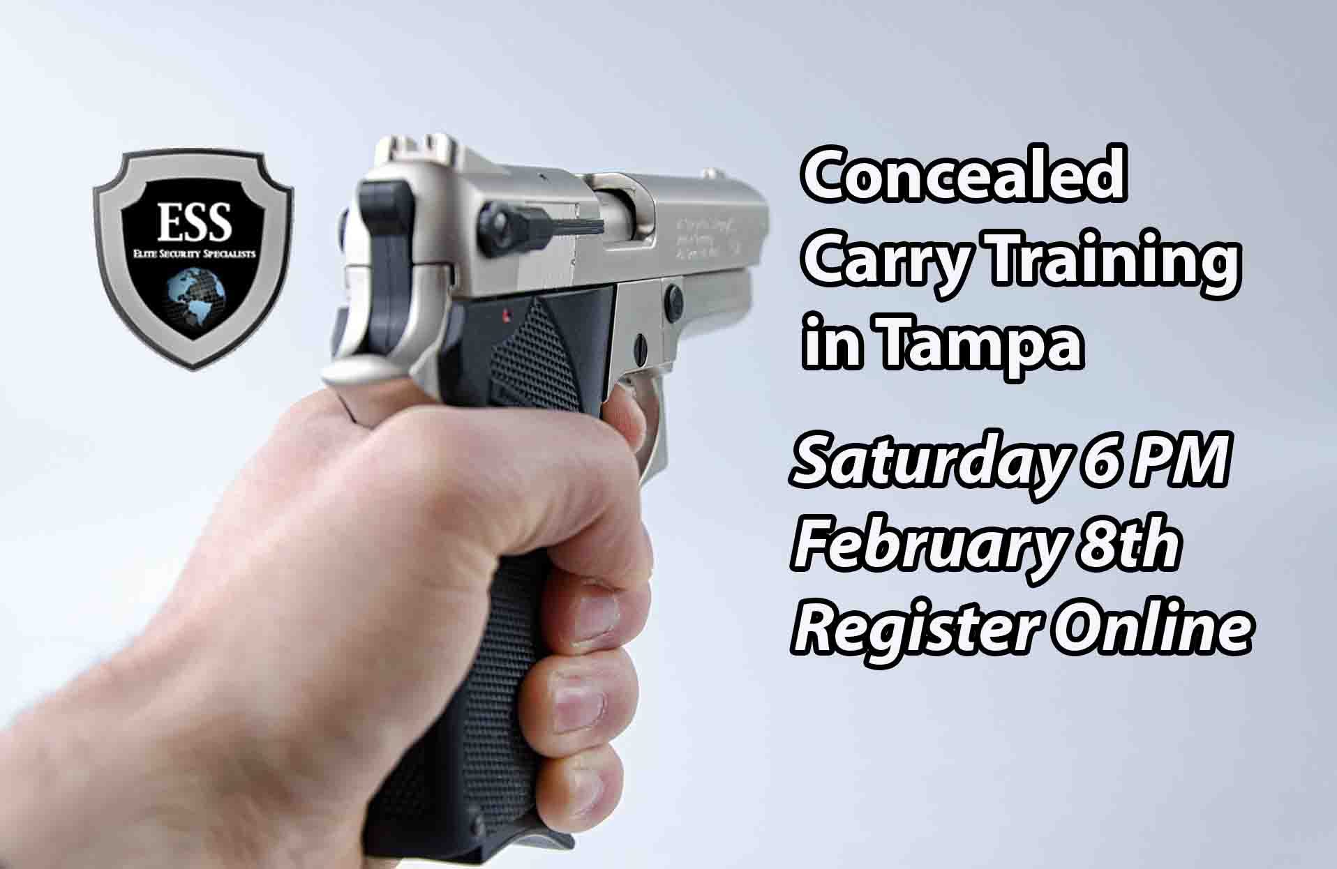 Tampa Concealed Carry Training Saturday FEB 8 6PM