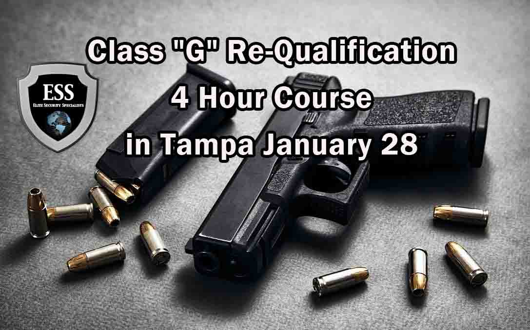 """Class """"G"""" Re-Qualification 4 Hour Course in Tampa"""