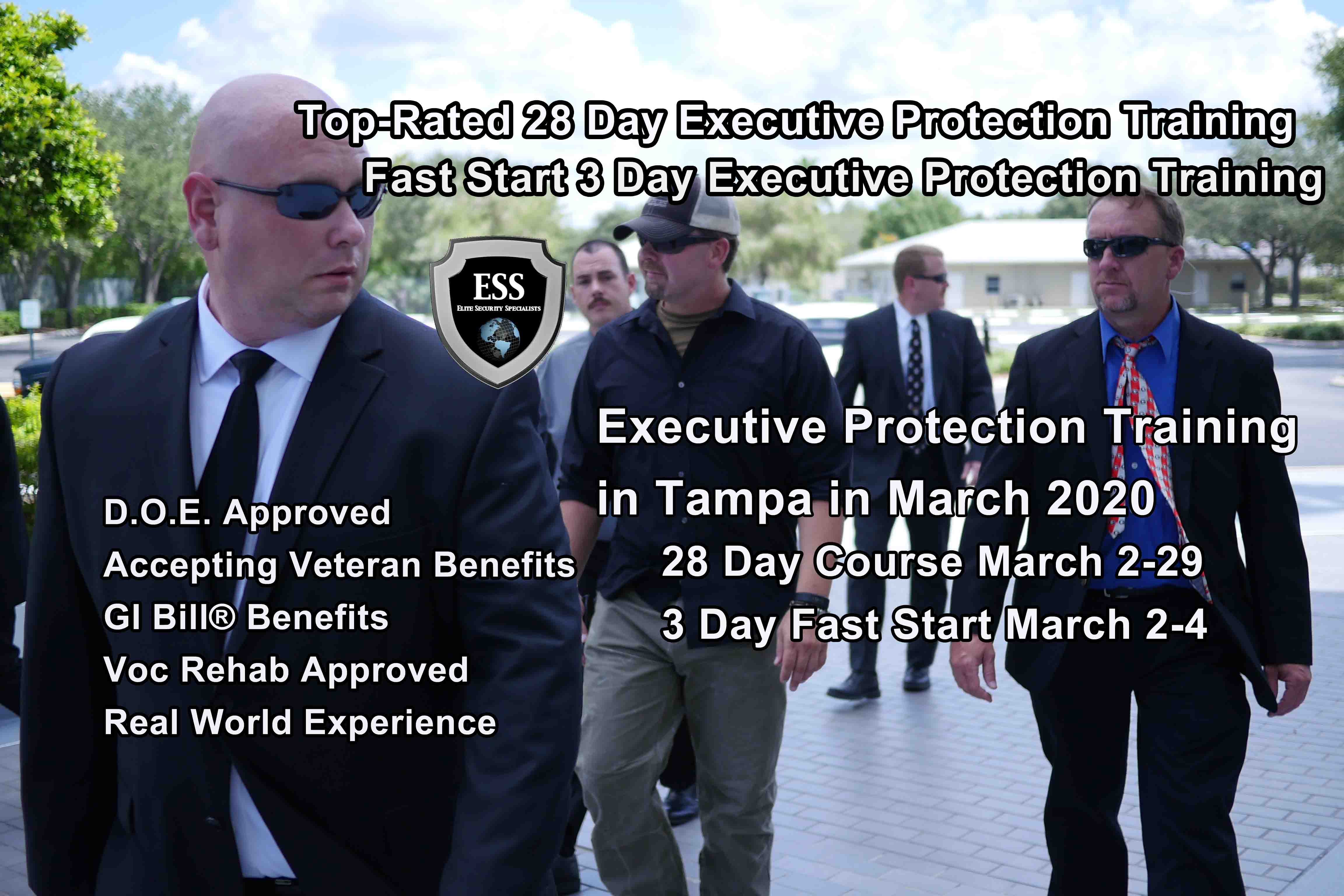Executive Protection Training - Tampa MARCH
