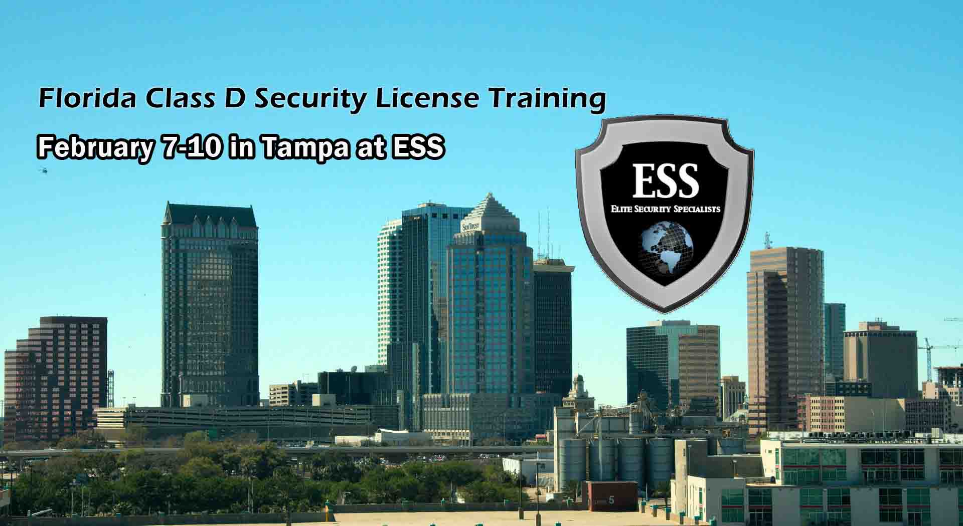 Florida D Security License Training in Tampa FEB