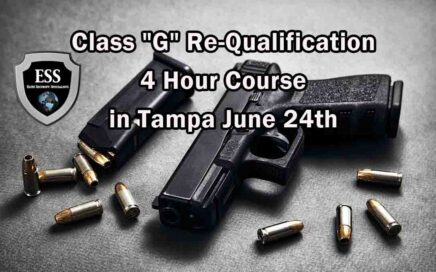 Class G Re-Qualification 4 Hour Course in Tampa JUNE