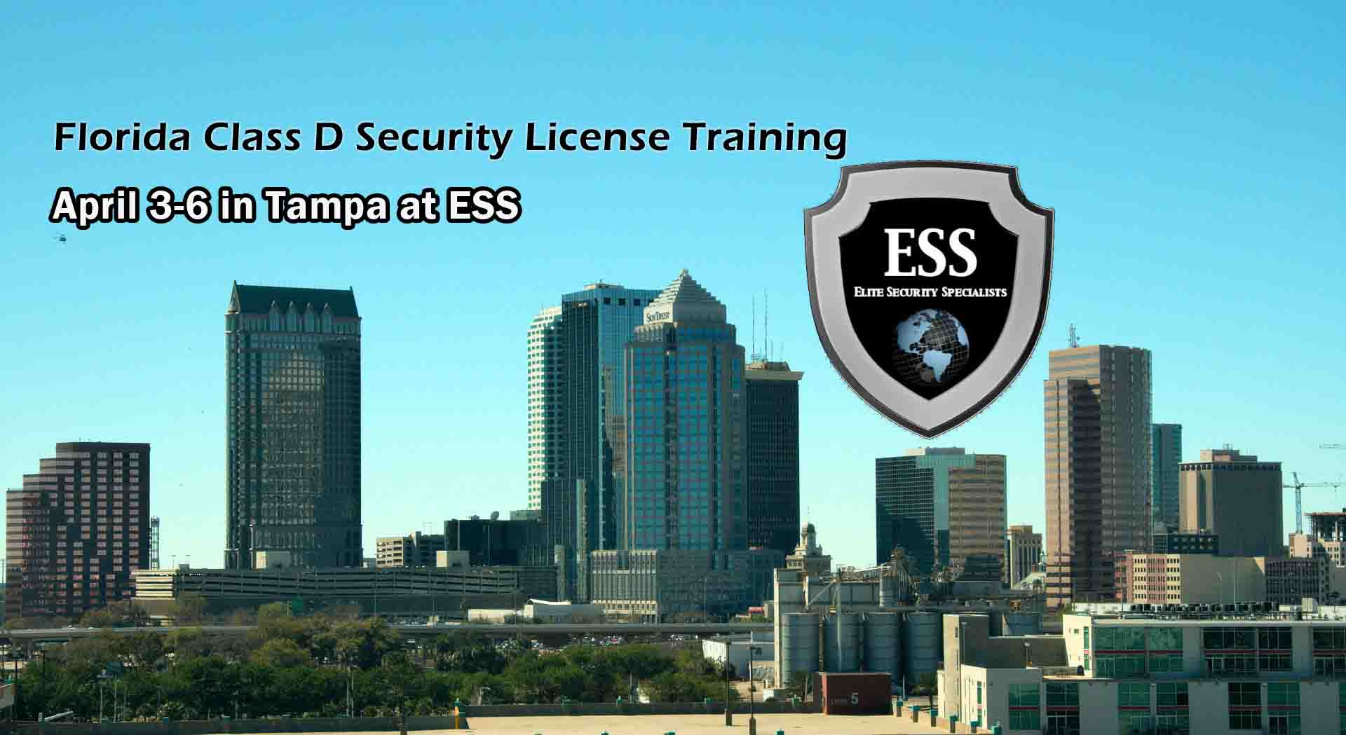 Florida D Security License Training in Tampa APRIL