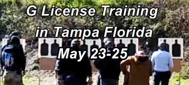 Class G Security License Training in Tampa MAY 23 to 25