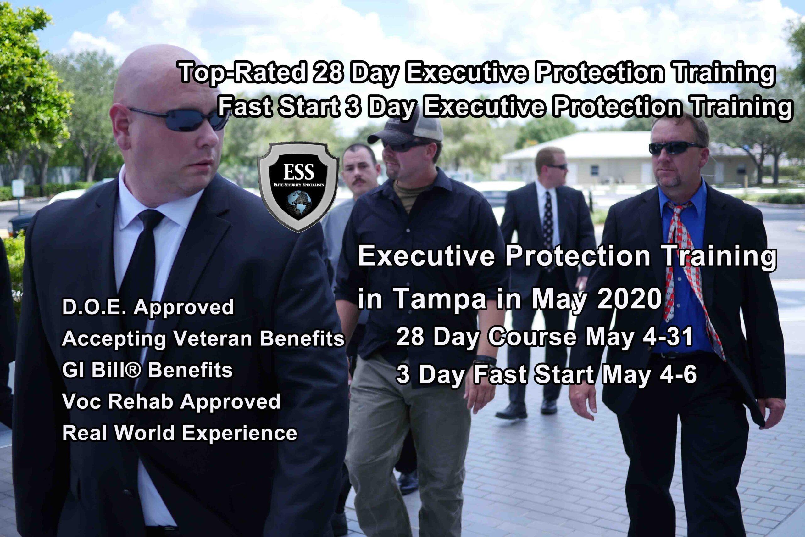 Executive Protection Training - Tampa MAY