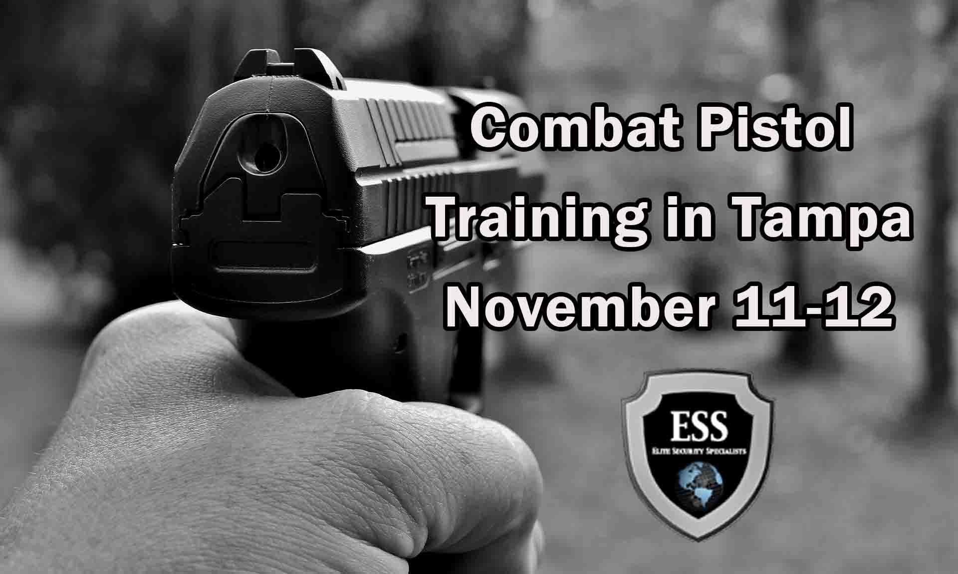 Combat Pistol Training in Tampa 1 NOV