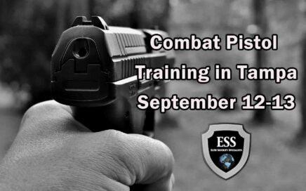 Combat Pistol Training in Tampa 1 SEPT