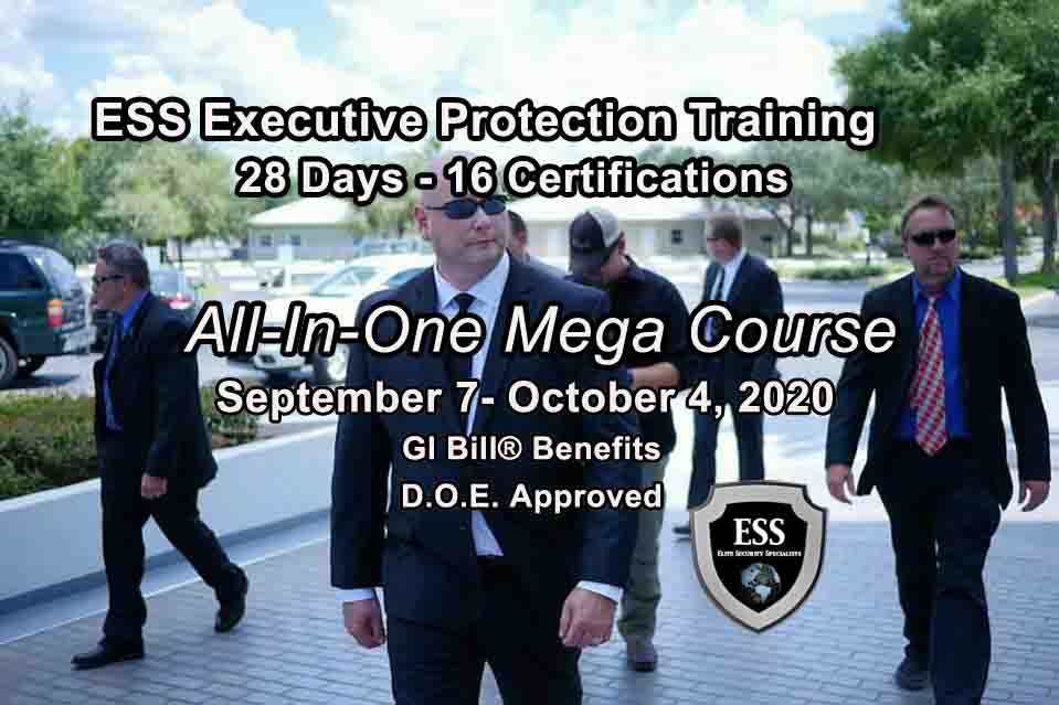 Executive Protection Training - Now Accepting Veteran Benefits