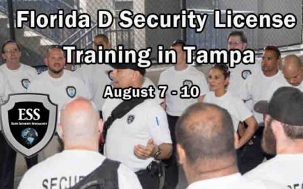 Florida D Security License Training in Tampa AUGUST
