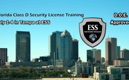 Florida D Security License Training in Tampa JULY