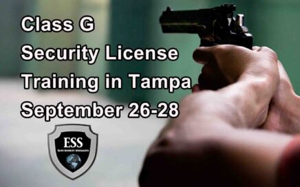Class G Security License Training in Tampa SEPT