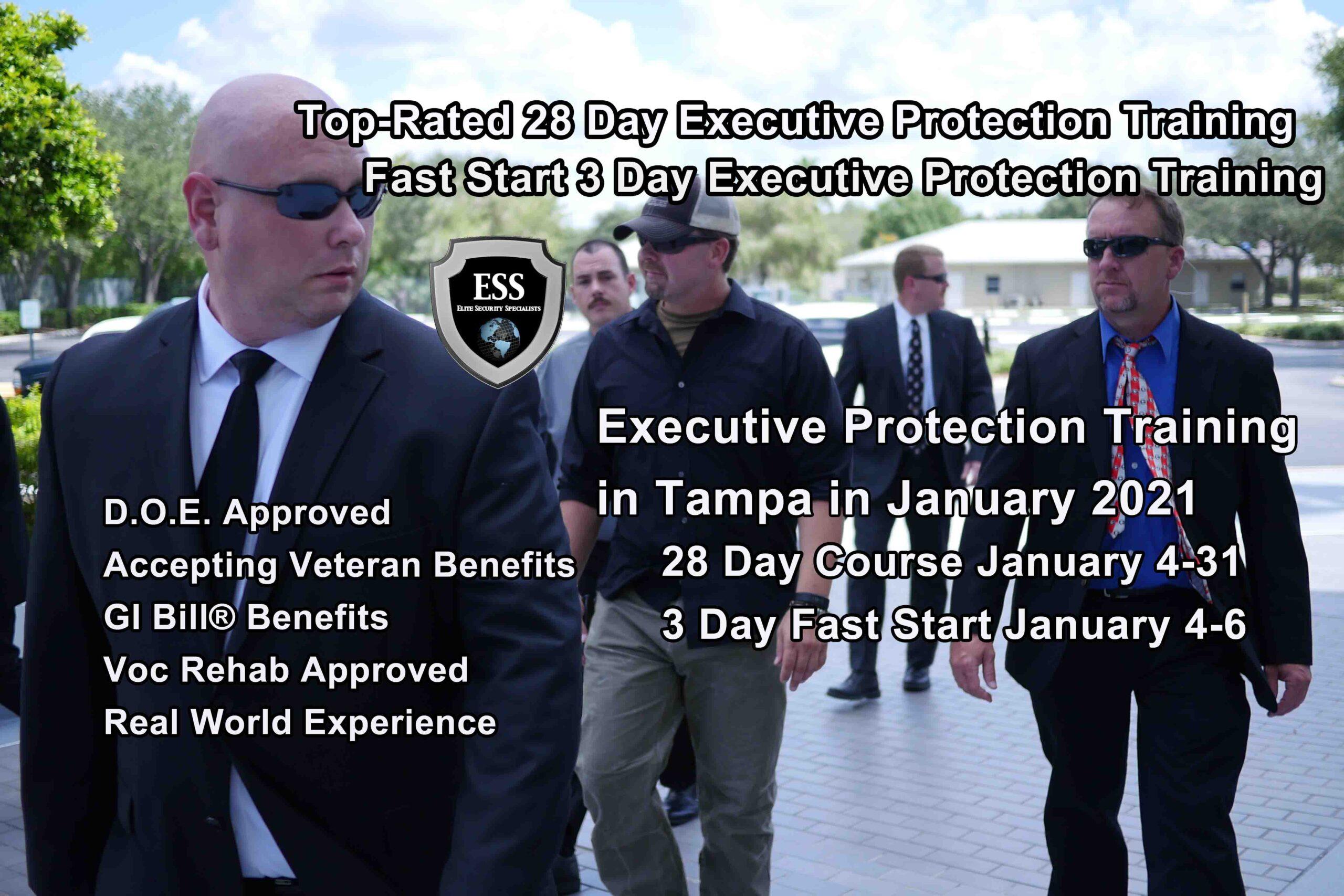 Executive Protection Training - Tampa 2 Courses January