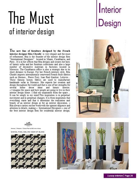 the must of interior design