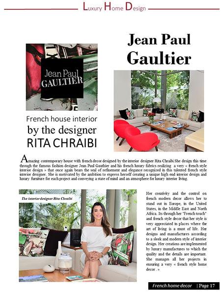 Jean Paul Gaultier luxury Home design