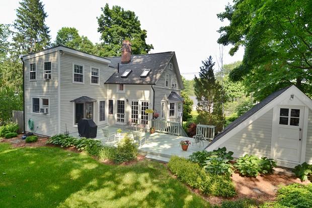 Backyard shot of Millport house