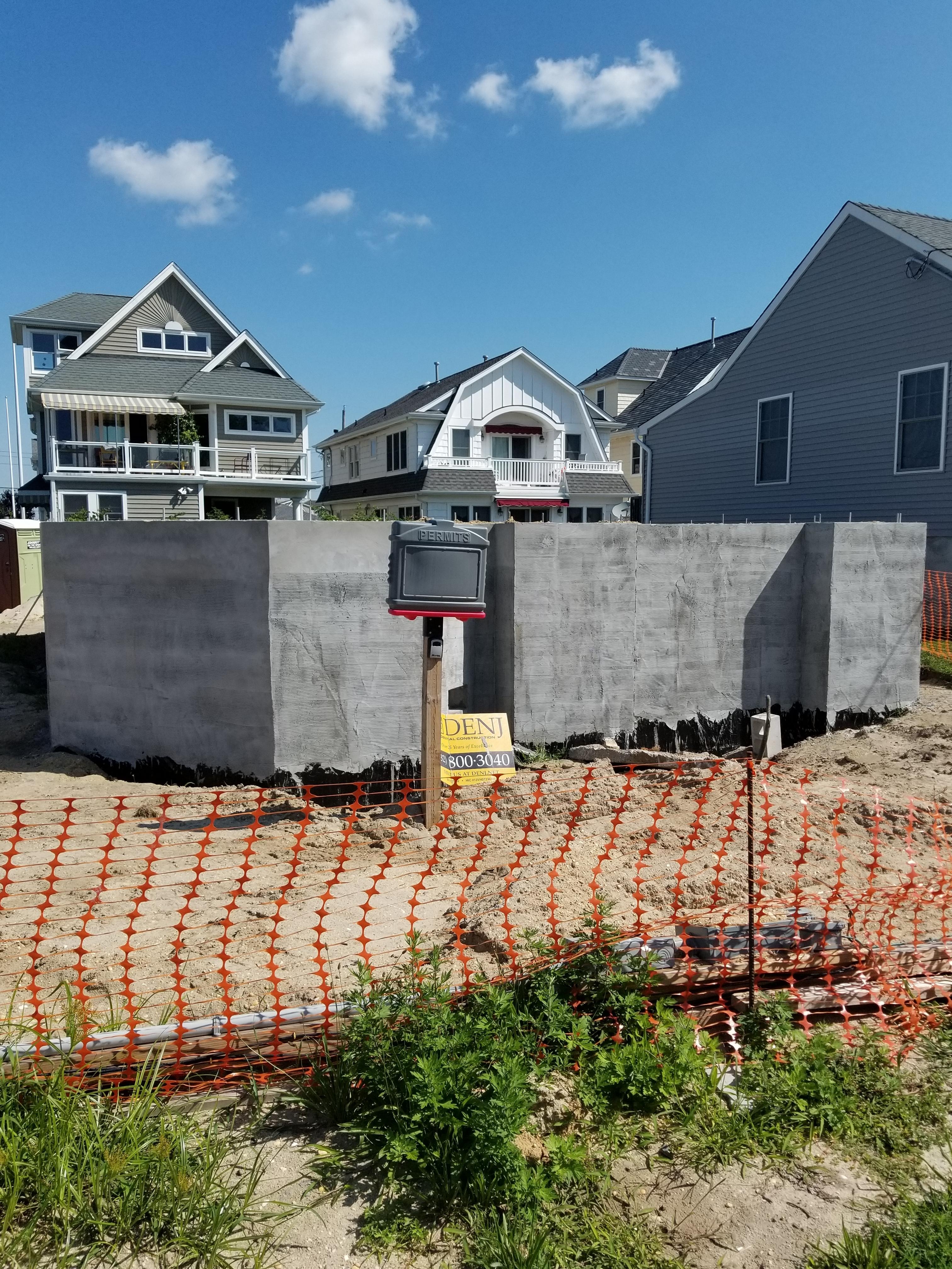 Foundation Started Custom Beach Home Manasquan, NJ