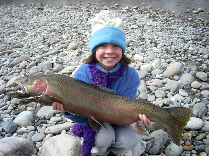 Ava's Steelhead Fishing