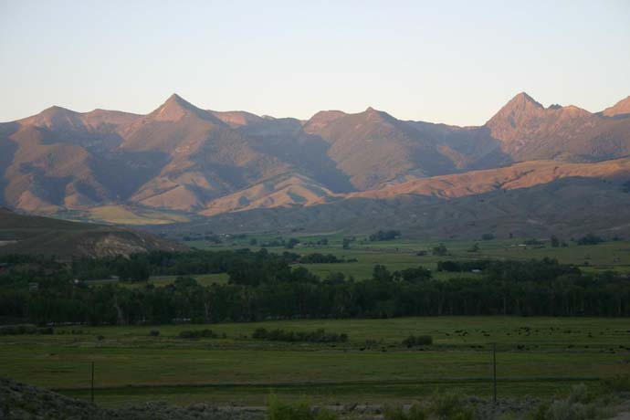 View of Bitterroot Mountains